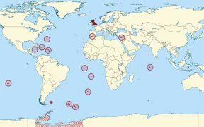 Map showing British Overseas Territories.