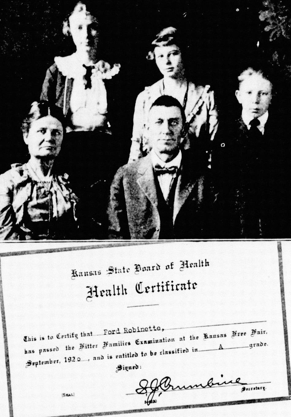 Eugenics health certificate