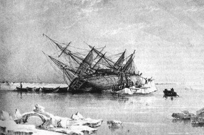 Engraving of HMS Terror.
