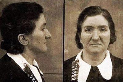 Mugshot of Leonarda Cianciulli.