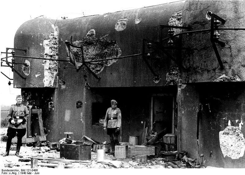 Maginot line damaged.