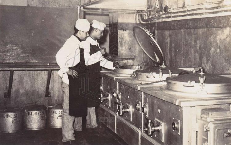 Kitchen inside Maginot line.