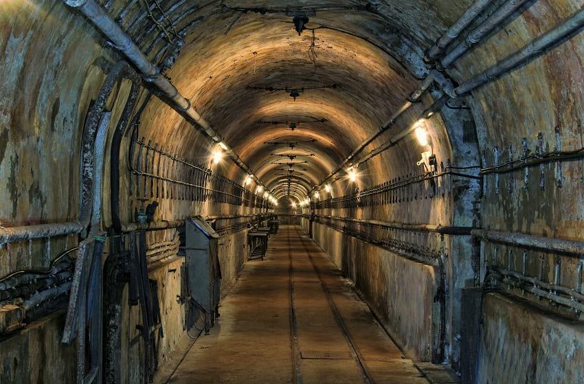 Internal rail line inside the Maginot line.