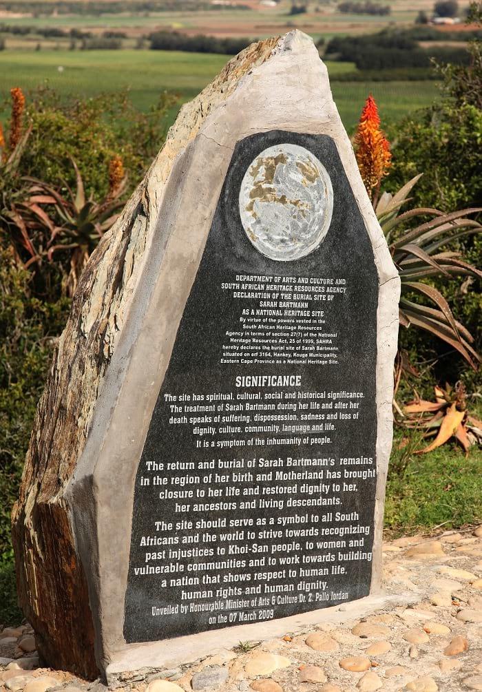 Sarah Baartman's burial site.