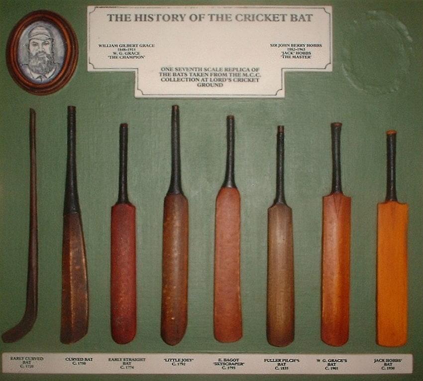 History of the cricket bat.