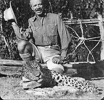 Jim Corbett with the Leopard of Rudraprayag.