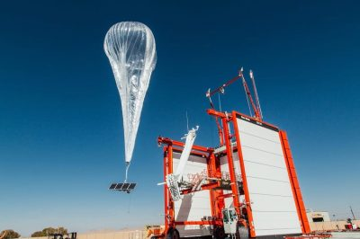 Project loon high-altitude balloon.