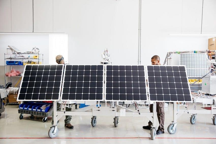 Solar panel used on loon balloon.
