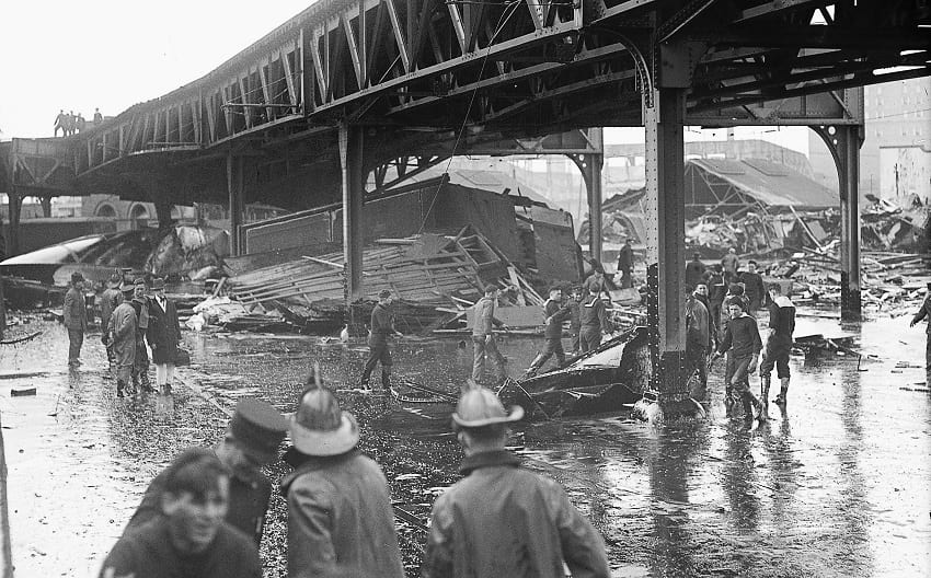 Aftermath of the Great Molasses Flood.