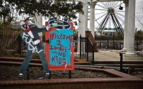 Six Flags New Orleans zombieland graffiti