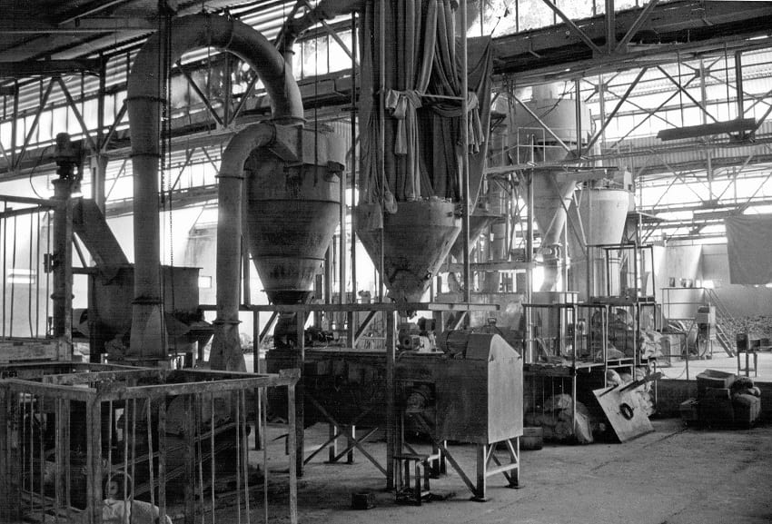 Inside the Union Carbide pesticide factory.