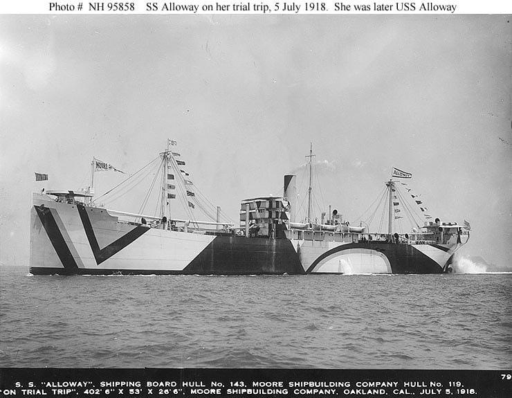 S.S. Alloway (1918).