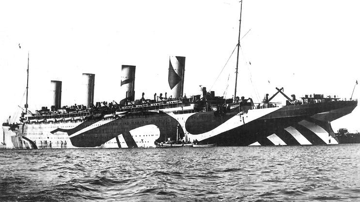 RMS Olympic camouflage