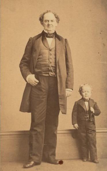 P. T. Barnum with General Tom Thumb.