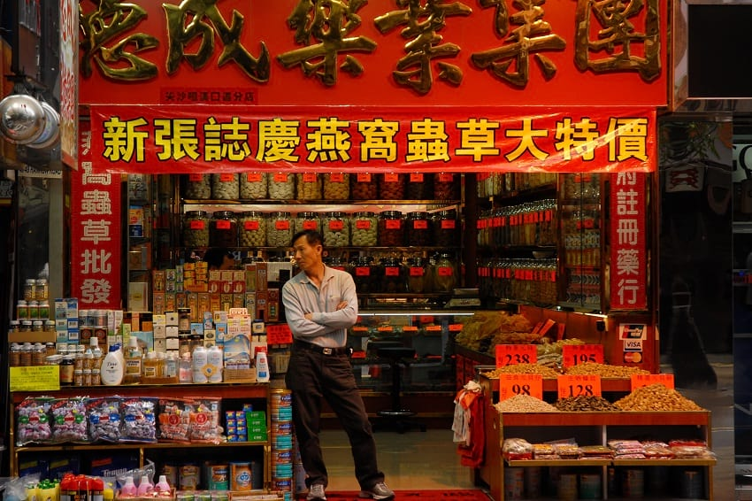 A shop in the streets of Hong Kong