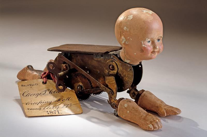 Creeping Baby Doll Patent Model
