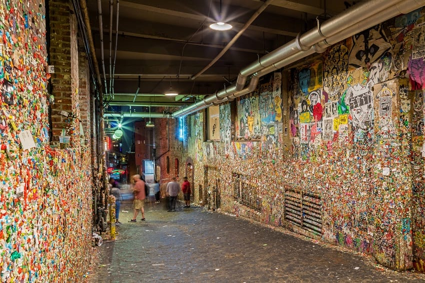 Gum wall, Seattle.