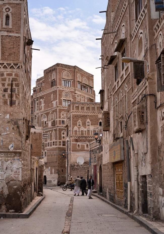 Inside Sana'a, Yemen.